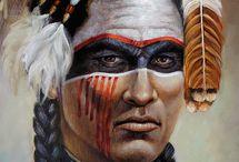 Грим индейца