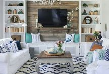 TV wall kitchen