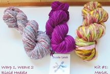 My Kits / Here you'll find my kits for weavers, knitters, crochet artists, and felters