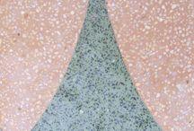 Terazzo cement tiles