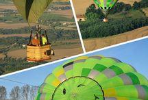 un vol en montgolfière comme idée cadeau de noël / faire un cadeau d'un vol en montgolfière pour Noël ou pour un anniversaire