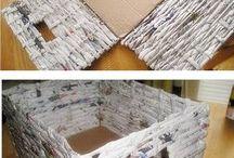 коробки, корзинки DIY