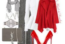 Hijab Fashion: White & Red / Preciosos atuendos en  blanco y rojo. #hijab #hijabers #hijabfashion #hijabmurah #hijaber #hijabootd #hijabista #hijaboutfit #hijabsyari #hijabchic