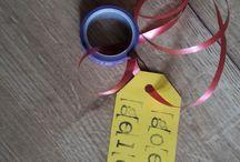 frutsels / In plaats van snoep, een rolletje washi tape aan n ketting!