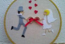 Filz-Hochzeit