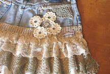 Джинсовые юбки и шорты