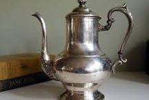 *TEA-, COFFEE & CHOCOLATE POTS : OTHER METALS