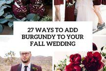Burgundy + Leather Wedding