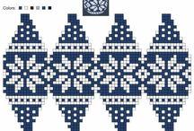Vánoce - pletené ozdoby