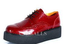 Mens Flatform Creeper Shoes / Designer platform shoes, fashion leather creeper shoe for men.