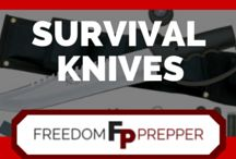 Survival Knives / The best knives recommended for every survival and preparedness situation.