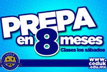 Prepa Abierta / Prepa en 8 meses, clases sólo los sábados. Validez oficial. www.ceduk.edu.mx