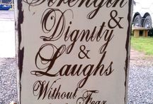 Signage Ideas / by The Purple Painted Lady ~ Tricia Kuntz