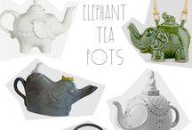 Elephant Tea Pots / Tea Pots