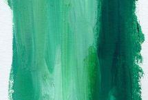 Greeny blue paint colour palette