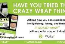 That Crazy Wrap Thing / Tightens, Tones, and firms in as little as 45 minutes. Reduces the appearance of cellulite. Gives you fast and lasting results from a Botanically based formula.