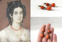 Reproduction Regency Coral Jewelry by Dames a la Mode / Reproduction jewelry inspired by the Regency Era.  See my items at damesalamode.etsy.com or www.damesalamode.com