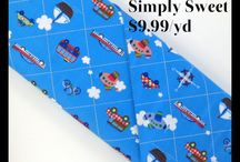 Simply Sweet Fabric Collection / Simply Sweet quilt fabric by Quilting Treasures.  Only $9.99/yd at Little Red Quilt House!