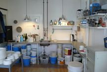 The studio / Pictures from my ceramic studio on Vesterbro, Copenhagen.