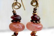 Boucles d´oreilles ethniques fantaisie bohéme par  de perles-en-perles