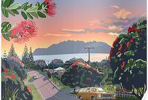 Kiwiana / Iconic New Zealand symbols