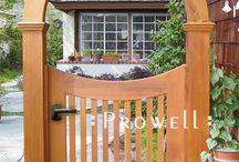 Garden fences, doors...