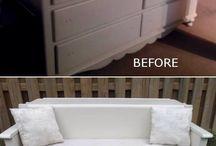 "Furniture ""to do"" list / Plans for extra furniture, junk, stuff in shed, Petes workshop shelves..."
