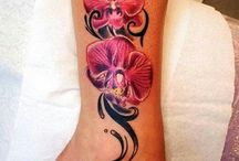 Orchideentattoo