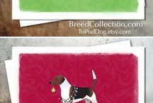 Beagle Gifts by Breed Collection / Beagle illustrations created by TriPodDog Design for the Breed Collection. Colorful, fresh dog breed silhouettes.
