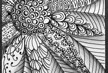 doodling and zentangling
