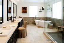 Bathroom Design 113 / A zen, spa style, open floor plan bathroom remodel.