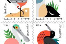 modern stamp