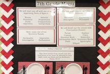 School ideas - Restaurant/food themed