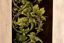 Painted decorations / trompe l'oeil
