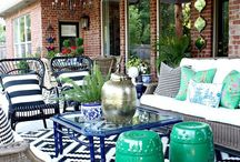 Patio Inspiration / Inspiration for creating cozy, welcoming and beautiful porch or patio spaces. (What's in here: patio inspiration, backyard patio, apartment patio, patio entertaining, small patio inspiration, covered patio ideas, dream house patios, outdoor patio inspiration, patio on a budget, diy patio, modern patio, yards, and porch ideas.)
