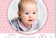 Invitatii personalizate de botez / Invitatia de botez personalizata cu fotografia bebelusului va fi pastrata mereu de intreaga familia. Modele: http://www.tiparo.ro/invitatii/invitatii-botez-1