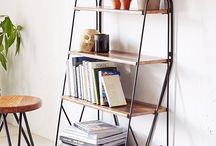 Side tables, chairs, shelves