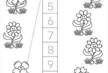 Matematyka0 - liczenie, 1:1, liczby / Nauka liczenia, kształtowanie stosunku 1:1 oraz pojęć poszczególnych liczb. Wiek przedszkolny