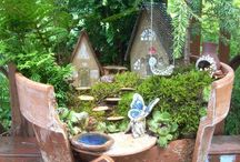 Fairy garden for centre