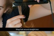 curls with flat iron