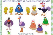 Moldes Galinha Pintadinha