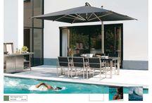 En verano, busca tu sombra con Umbrellas by Fim / Sombrillas italianas de primera calidad hechos de paraguas voladizo