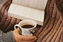 ღ‿ tea and coffee...books and blanket