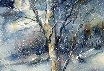 Snowy paintings