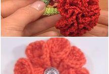 flores lindas tejidas