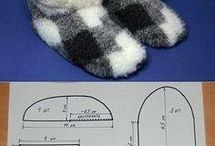 Slippers sew