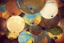 Noget med globus/ kort
