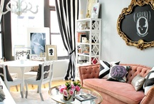 Black-White-Other / Black and white home decor with another accent color