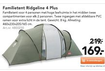 4-persoons tent