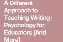 A different approach to teaching WRITING